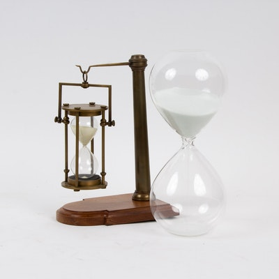 Hour Glass and Hour Glass Bookend