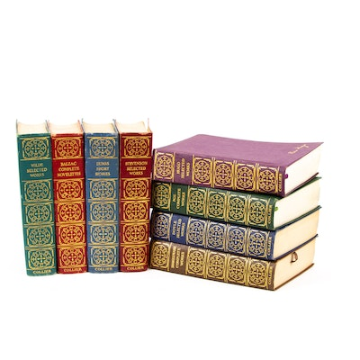 Finely Bound Anthologies of Classic Authors with Shakespeare, Poe and More