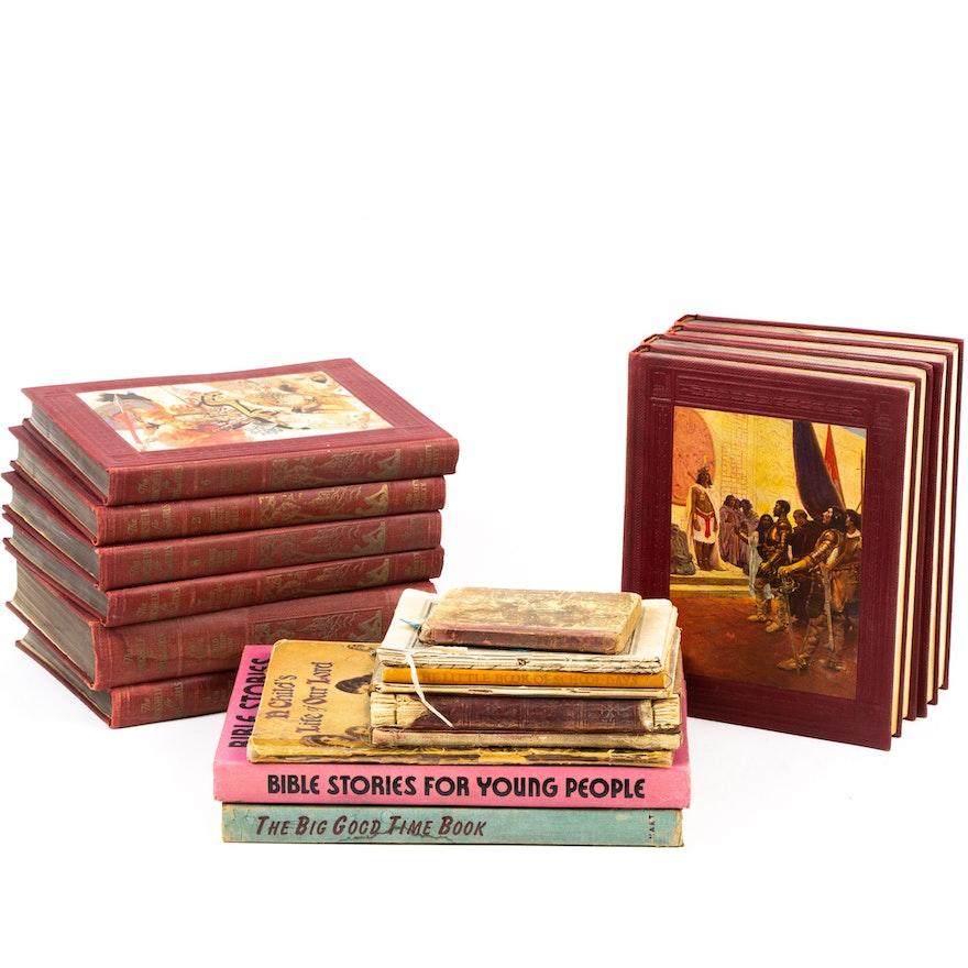 """Vintage Children's Books including """"Bookshelf for Boys and Girls"""""""