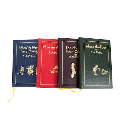 "Easton Press A.A. Milne Collector's Four Volume Set with ""Winnie-the-Pooh"""