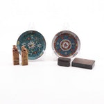 Chinese Soapstone Seals, Cloisonné Dishes and Enameled Boxes