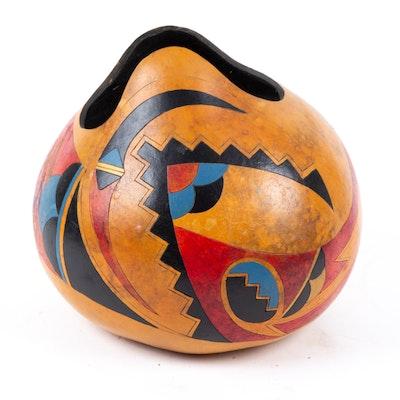 "Andrea Southwestern Style Painted Gourd ""Ridge"""