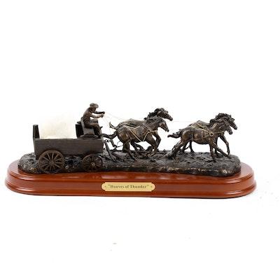 "Montana Silversmiths Bronze Sculpture ""Hooves of Thunder"""
