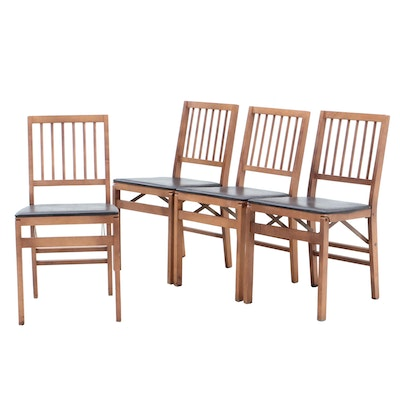 Stakmore Wood Folding Chairs, Mid-20th Century