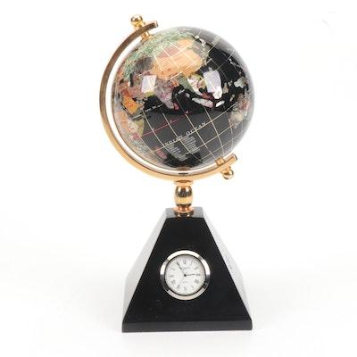 Waterford Stone Globe Desk Clock