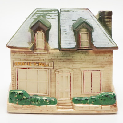 "McCoy Pottery ""Cookie House"" Cookie Jar, 1950s"