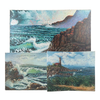 Coastal Landscape Oil Paintings Featuring David Boswell