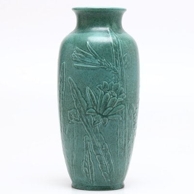 "Rookwood Pottery Earthenware ""Daffodil Crystalline"" Vase, 1966"