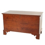Chippendale Style Cherrywood Benchmade Blanket Chest, 20th Century