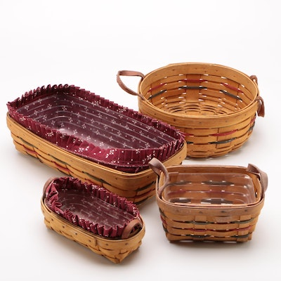 Longaberger Baskets with Leather Handles and More, Late 1990s