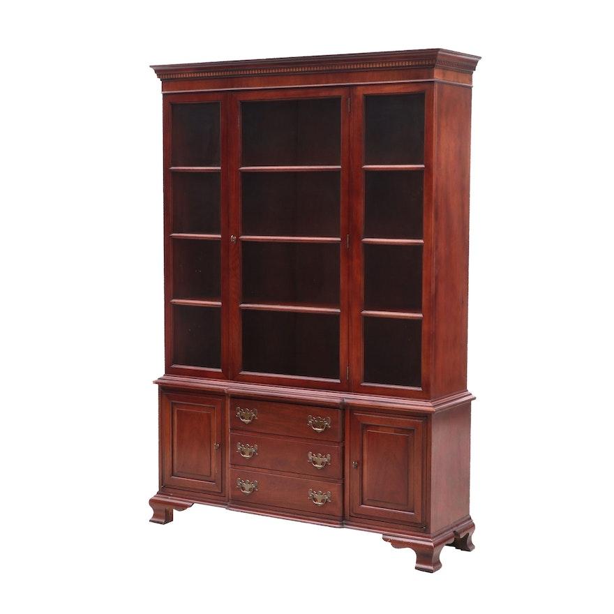 Hickory Chair Company George Iii Style Mahogany Curio Cabinet 20th