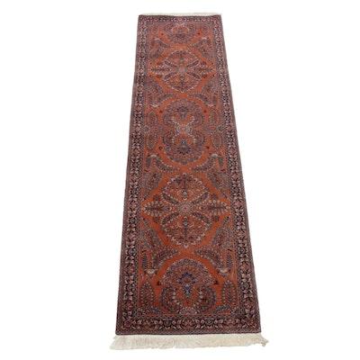 Hand-Knotted Sino-Persian Sarouk Carpet Runner