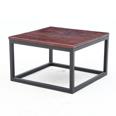 Contemporary Walnut Accent Table
