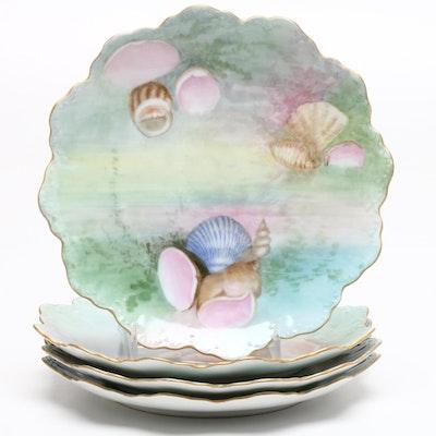 Rosenthal Porcelain Shell Themed Plates and Tressemann & Vogt Serveware