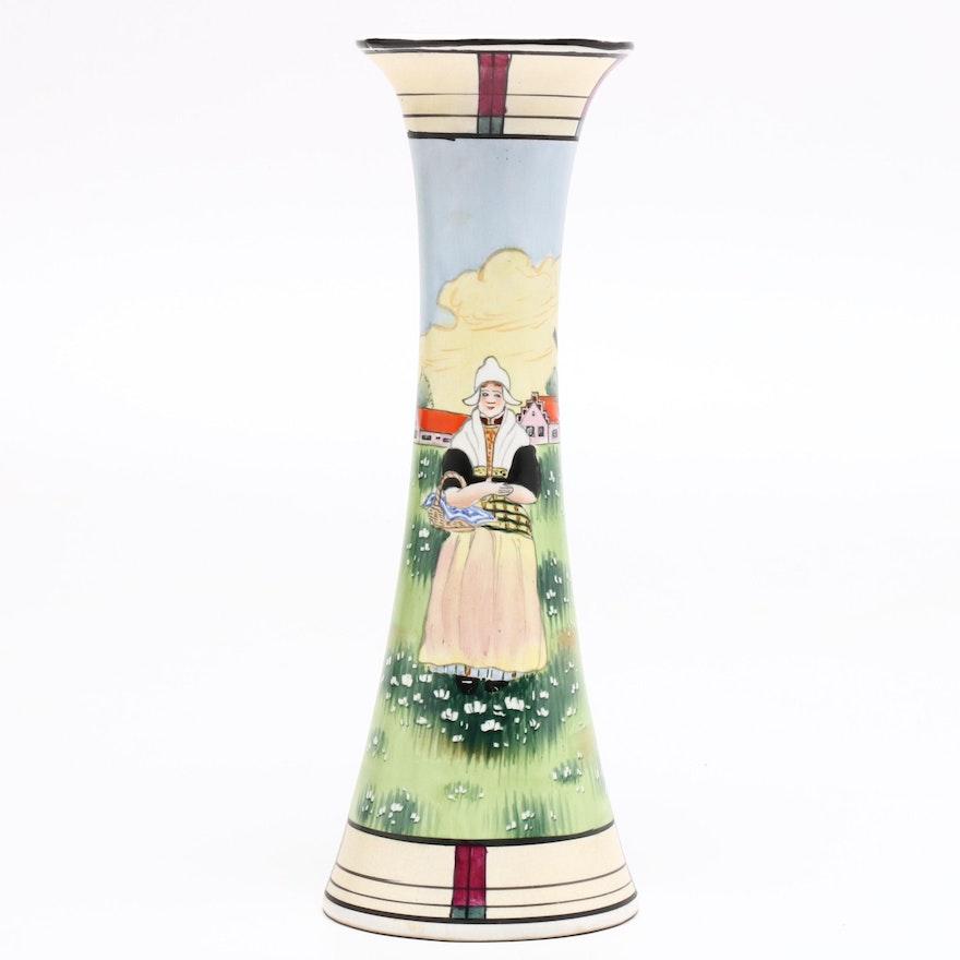 Royal Nishiki Hand-Painted Japanese Vase