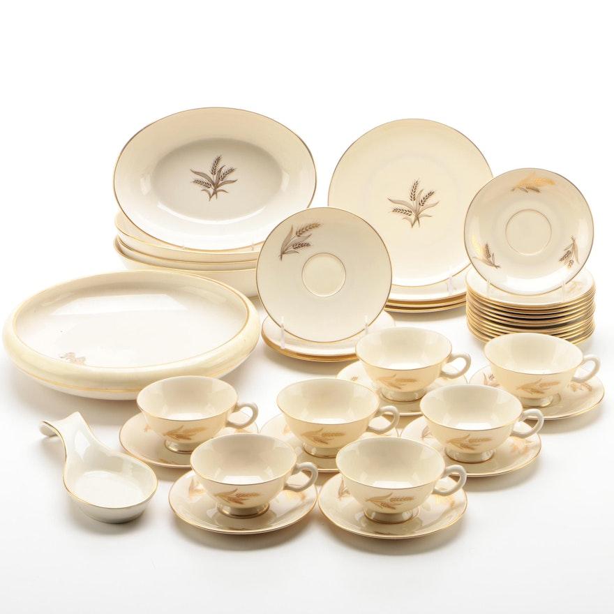 "Lenox ""Harvest"" and ""Wheat"" China Dinnerware, Vintage"