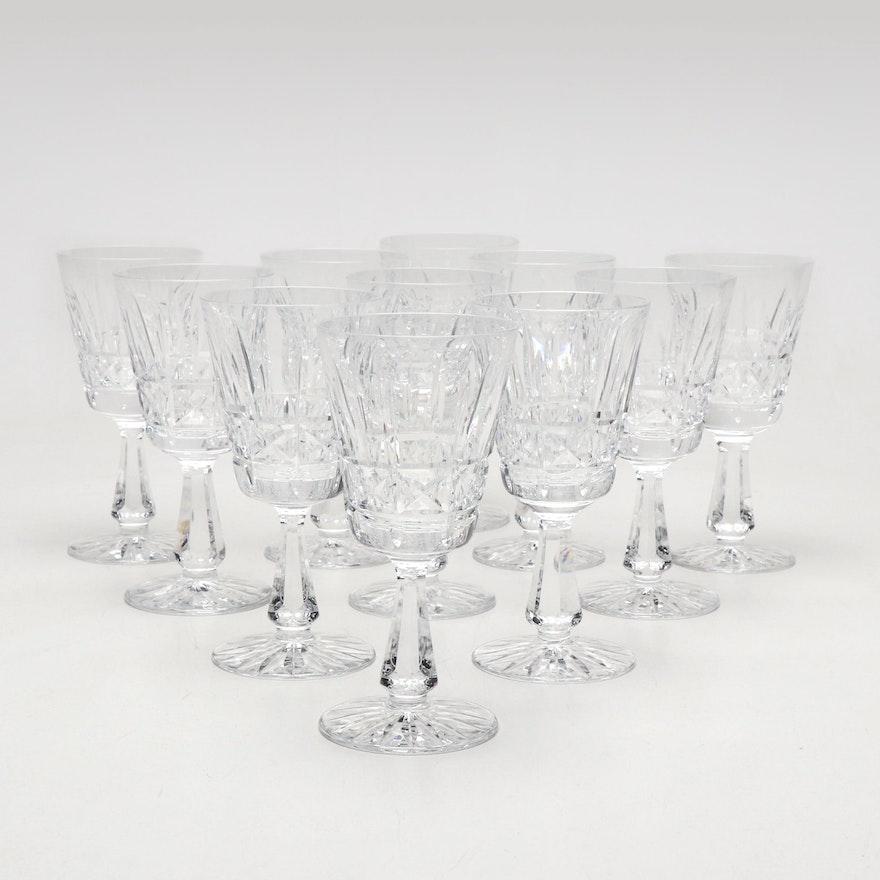 "Waterford Crystal ""Kylemore"" Cut Crystal Claret Glasses"