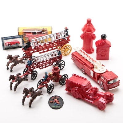 Matchbox Diecast Rolls Royce Firetruck and Other Firetruck Themed Collectibles
