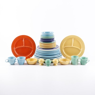 """Homer Laughlin """"Fiesta"""" and """"Harlequin"""" Dinnerware, Early to Mid 20th Century"""