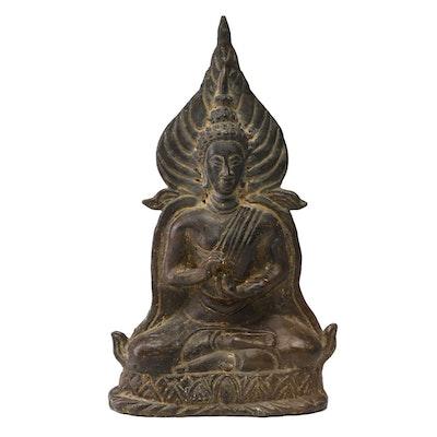 Thai Style Cast Bronze Buddha Figurine
