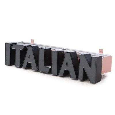 "Illuminated ""Italian"" Wall Sign"