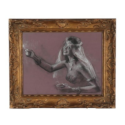 Giovanni Madonini Charcoal Figural Drawing