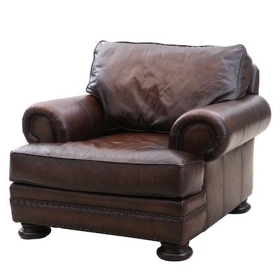 Bernhardt Leather Club Chair, Contemporary