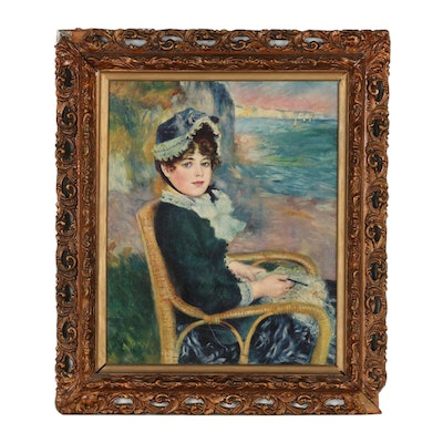 """Offset Lithograph after Pierre-Auguste Renoir """"By the Seashore"""""""