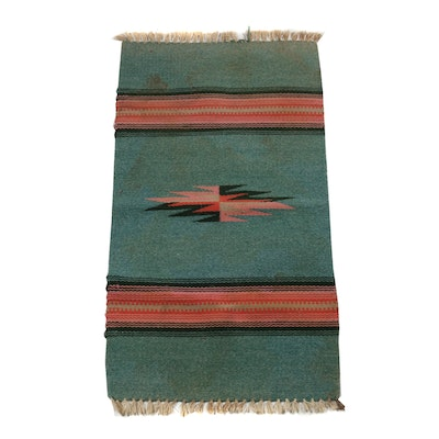 Handwoven Orteca's Weaving Shop Wool and Cotton American Southwest Wool Rug