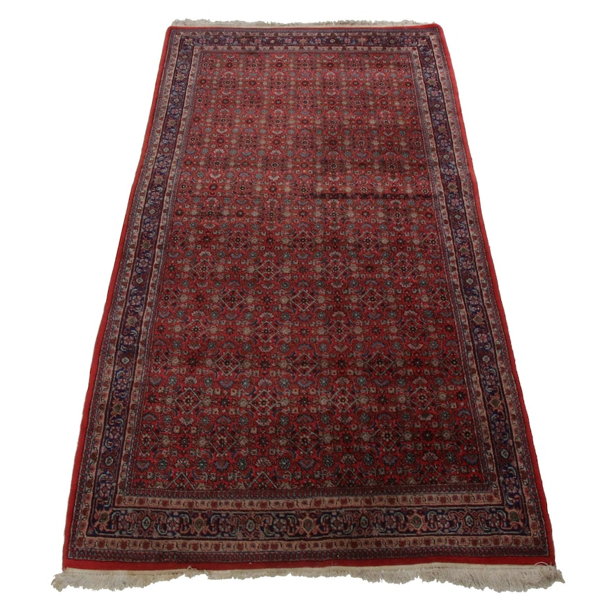 Hand-Knotted Persian Birjand Long Rug