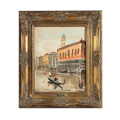 DeVity Studios Venice Canal Scene Oil Painting