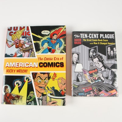 "Books on Comic Books including 2008 ""The Ten-Cent Plague"" by David Hajdu"