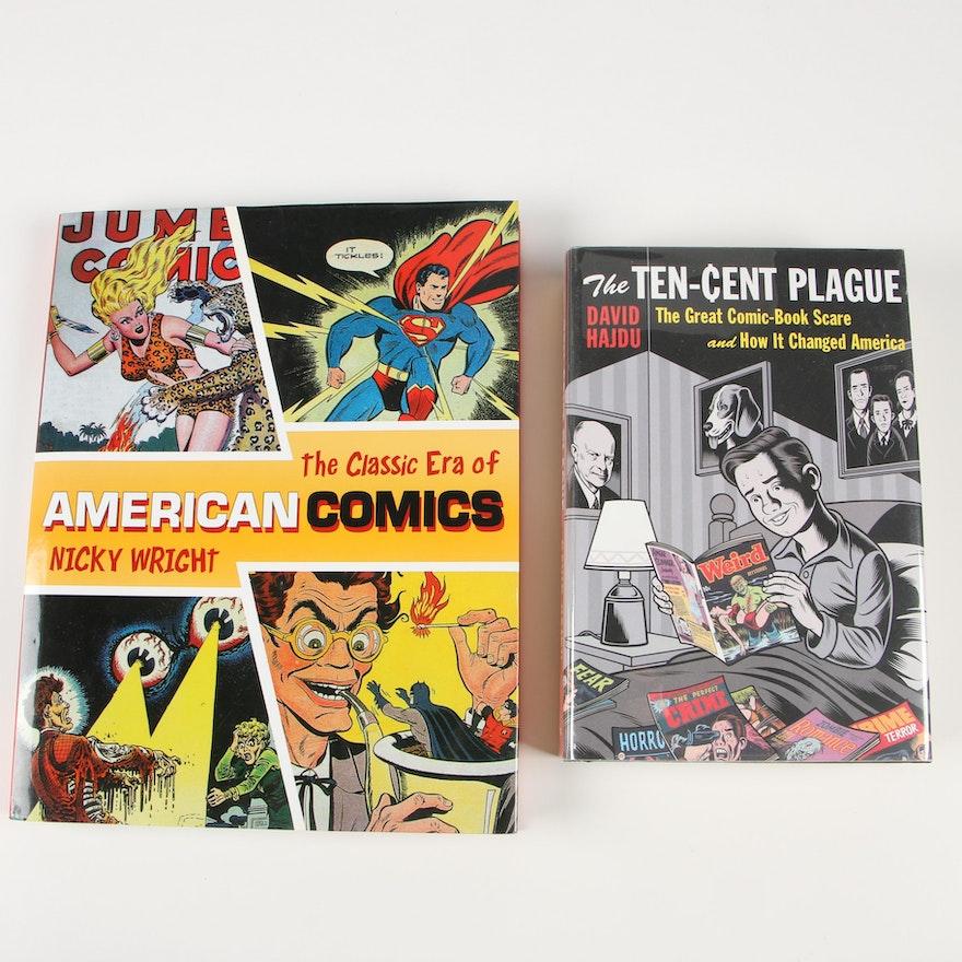 "Books on Comic Books including 2008 ""The Ten-Cent Plague"" by David Hajdu"