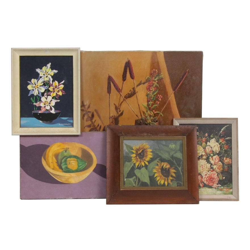 20th Century Still Life Oil Paintings