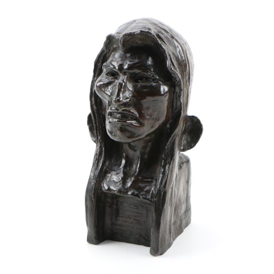 "Frederic Remington Posthumous Bronze Sculpture ""The Savage"""