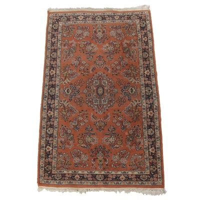 Hand-Knotted Indo-Persian Sarouk Rug