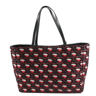 "Philip Treacy London ""Marilyn Monroe Lip"" Print  Pop Art Style Tote Bag"