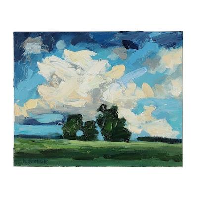 "Mariusz ""Mario"" Idkowiak Landscape Oil Painting"