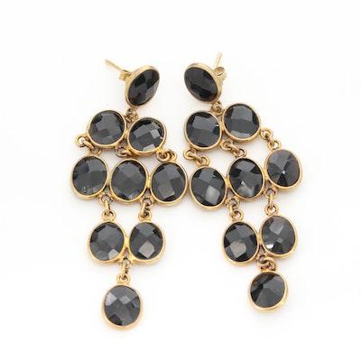 Sterling Silver Black Onyx Chandelier Earrings