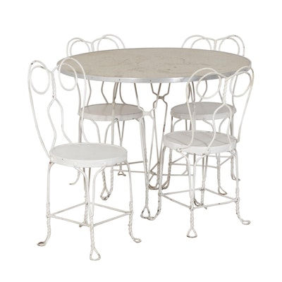 Wire Frame Ice Cream Parlor Table and Chairs