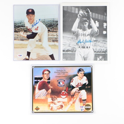 Autographed Photos From Cleveland Indian Players, PSA/DNA Certified