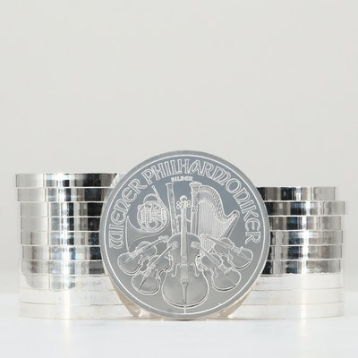 Roll of Twenty 2011 Austrian Philharmonic One Ounce .999 Silver 1.50 Euro Coin