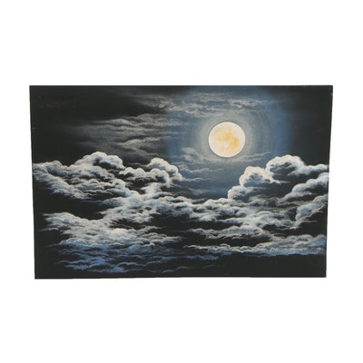 Pastel Drawing of Night Sky
