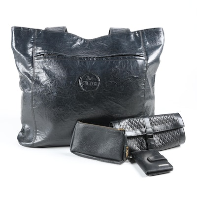 Black Tote, Wallet and Travel Accessories Including Nine West