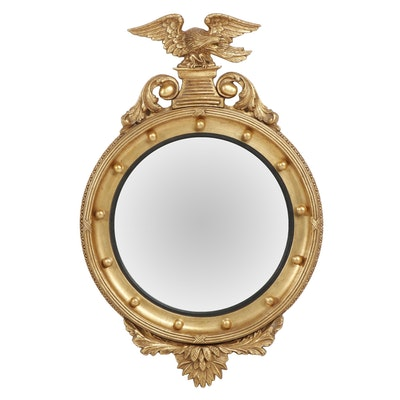 Federal Style Gold Painted Convex Mirror