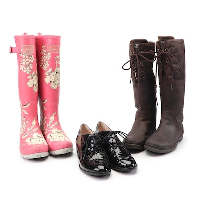 UGG Waterproof Boots, Louise et Cie Oxfords, and Joules Rain Boots