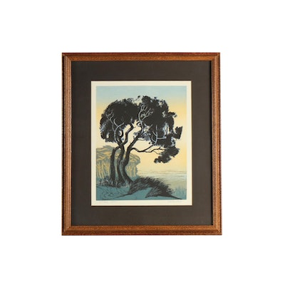 "Walton Butts Serigraph ""Storm Trees"""