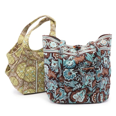 "Vera Bradley ""Sittin' in a Tree"" Shoulder Bag and Java Blue"" Quilted Tote"