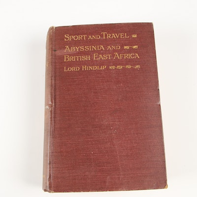 "First Edition ""Sport and Travel: Abyssinia and British East Africa"" by Hindlip"