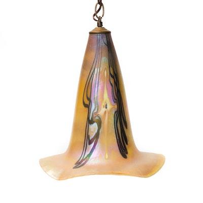 Favrile Style Glass Pendant Lamp